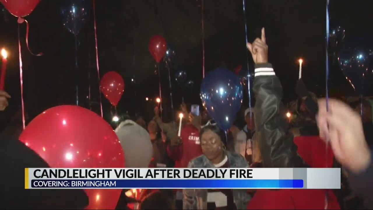 Candlelight vigil after deadly fire