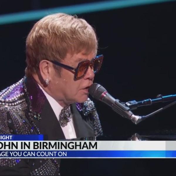 Elton John concert in Birmingham