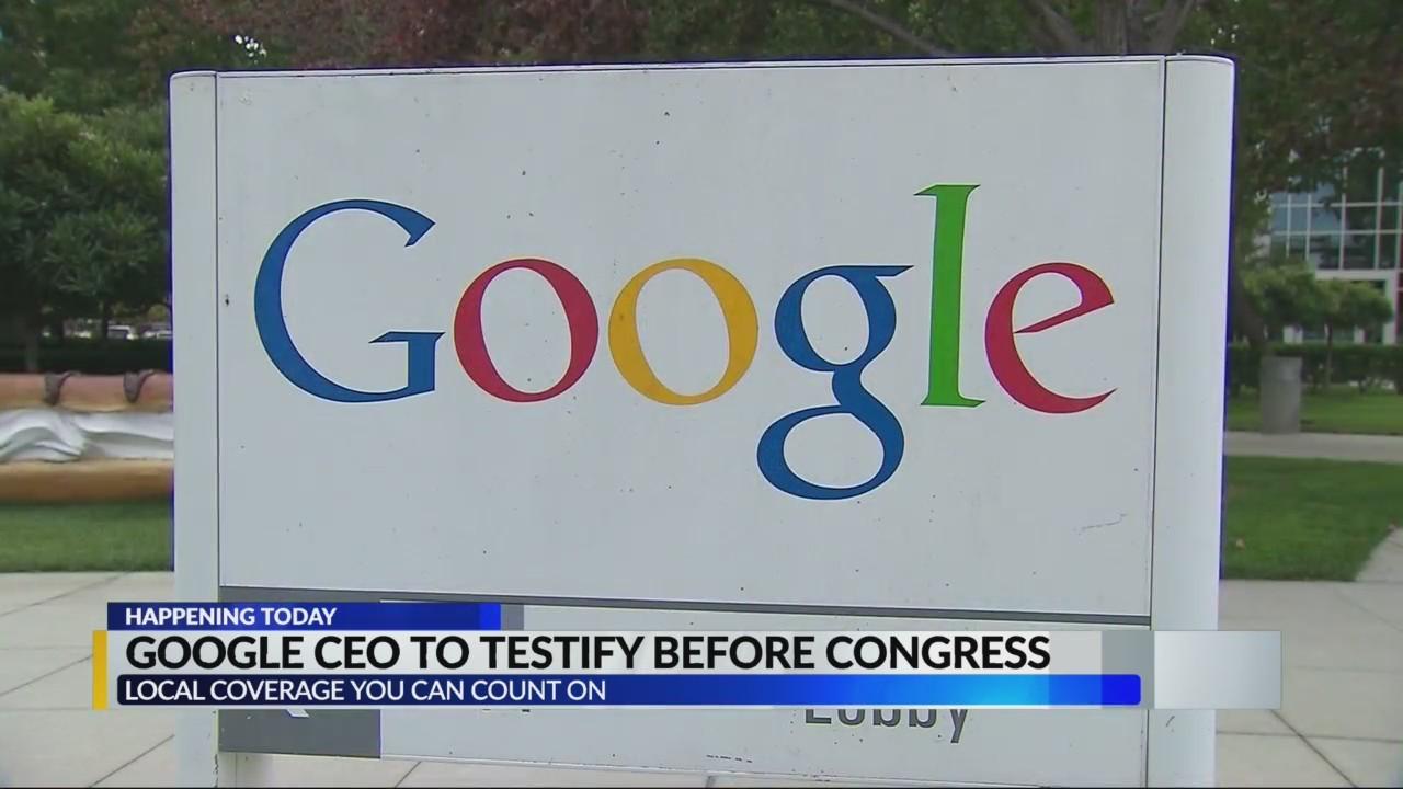 Google CEO testifying over bias claim