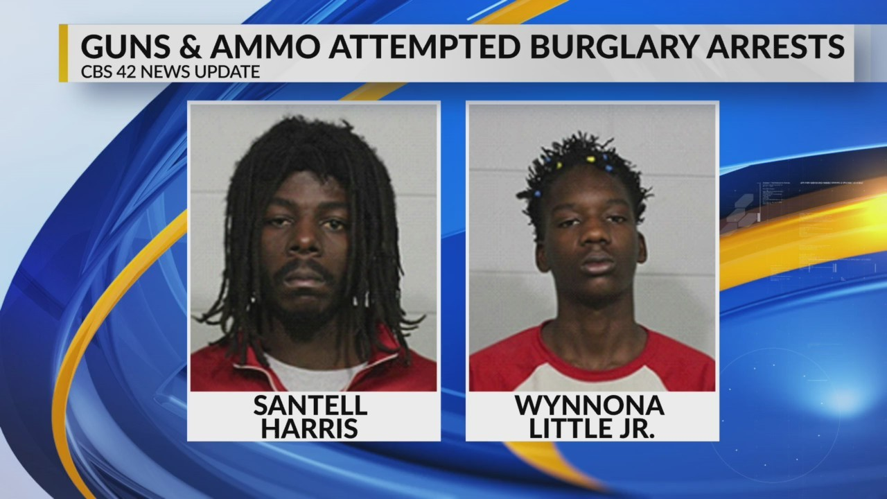 Guns, ammo attempted burglary arrests in Tuscaloosa