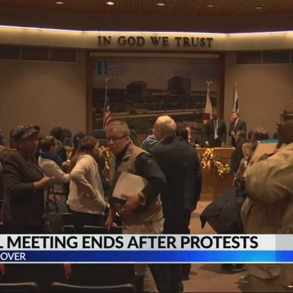 Hoover City Council Meeting Ends After Protests