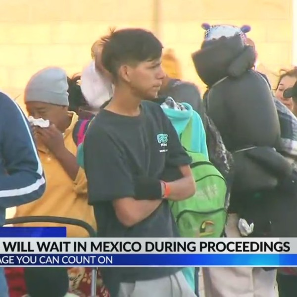Migrants must wait in Mexico during proceedings