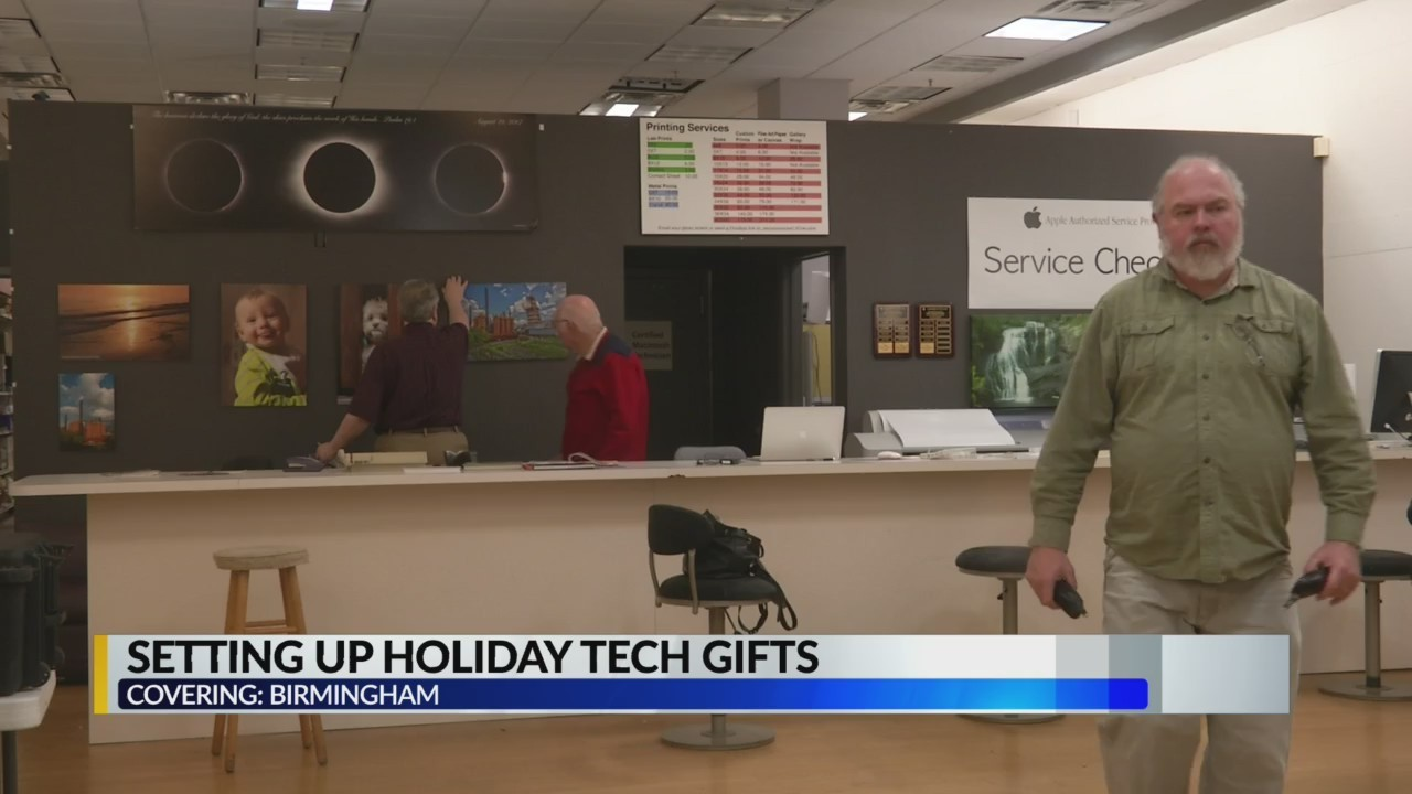 Setting up tech gifts