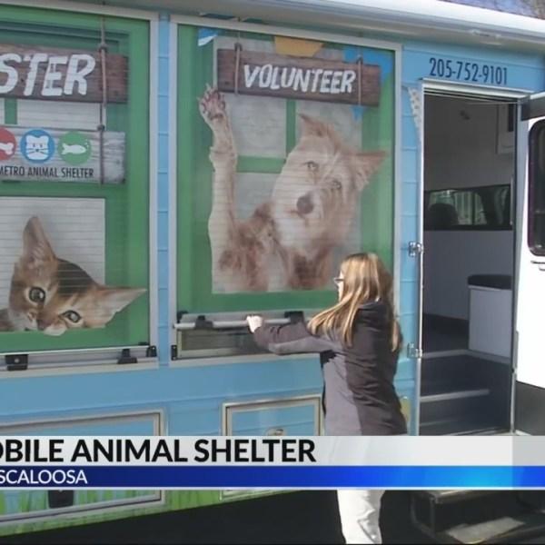 Tuscaloosa mobile animal shelter