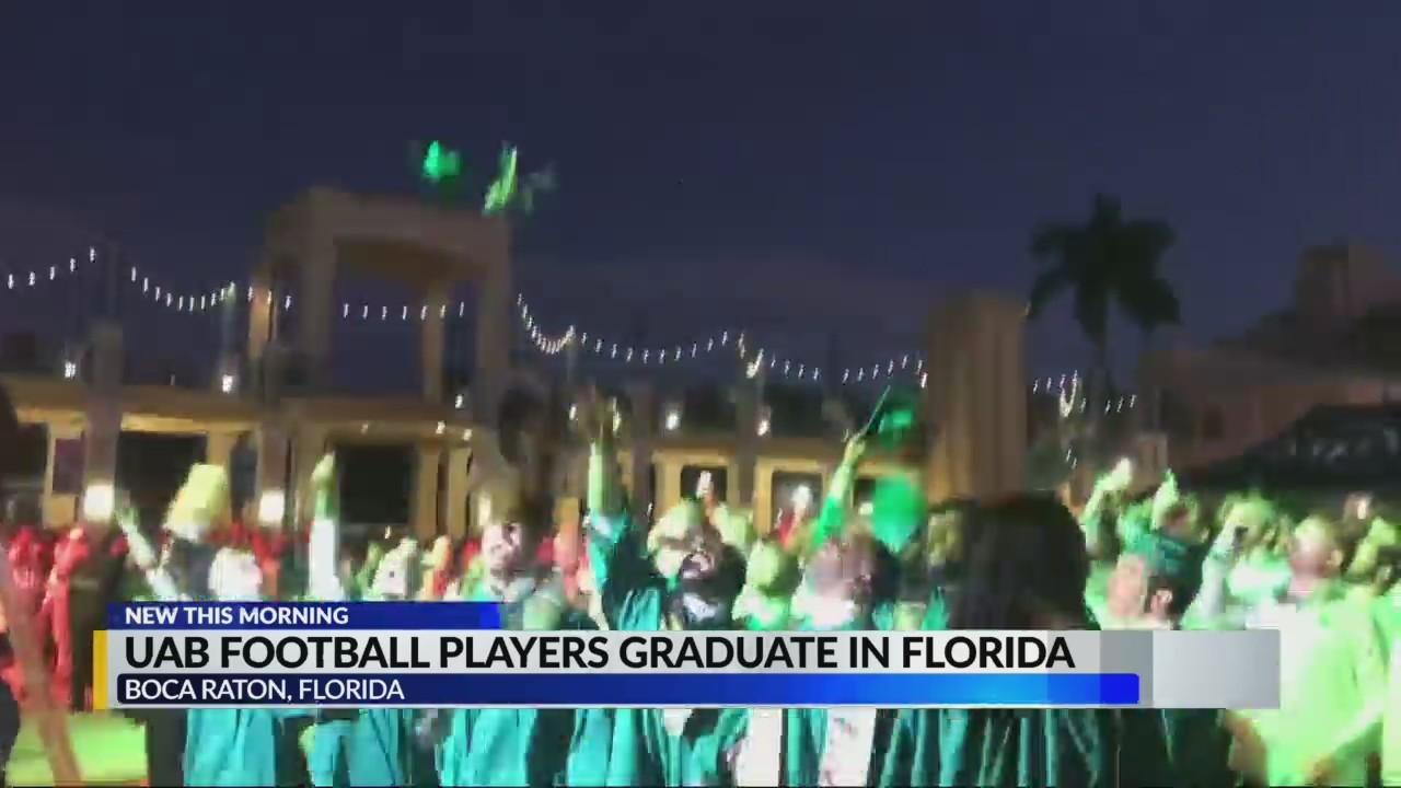UAB Senior Football players graduate