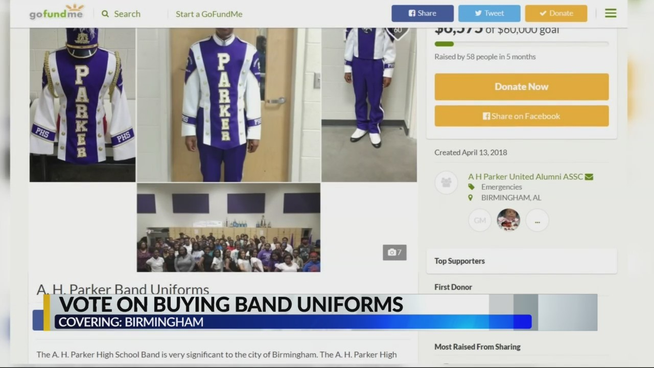 Voting on buying band uniforms