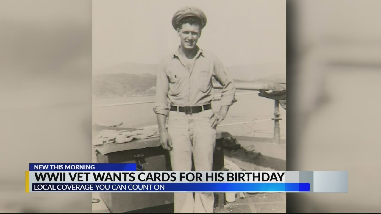 WWII Vet wants cards for his birthday