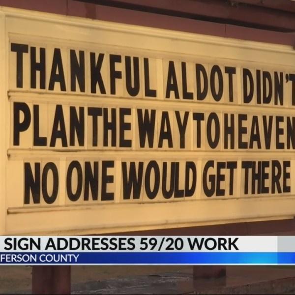 Adamsville church  finds humor to 59/20 bridge construction
