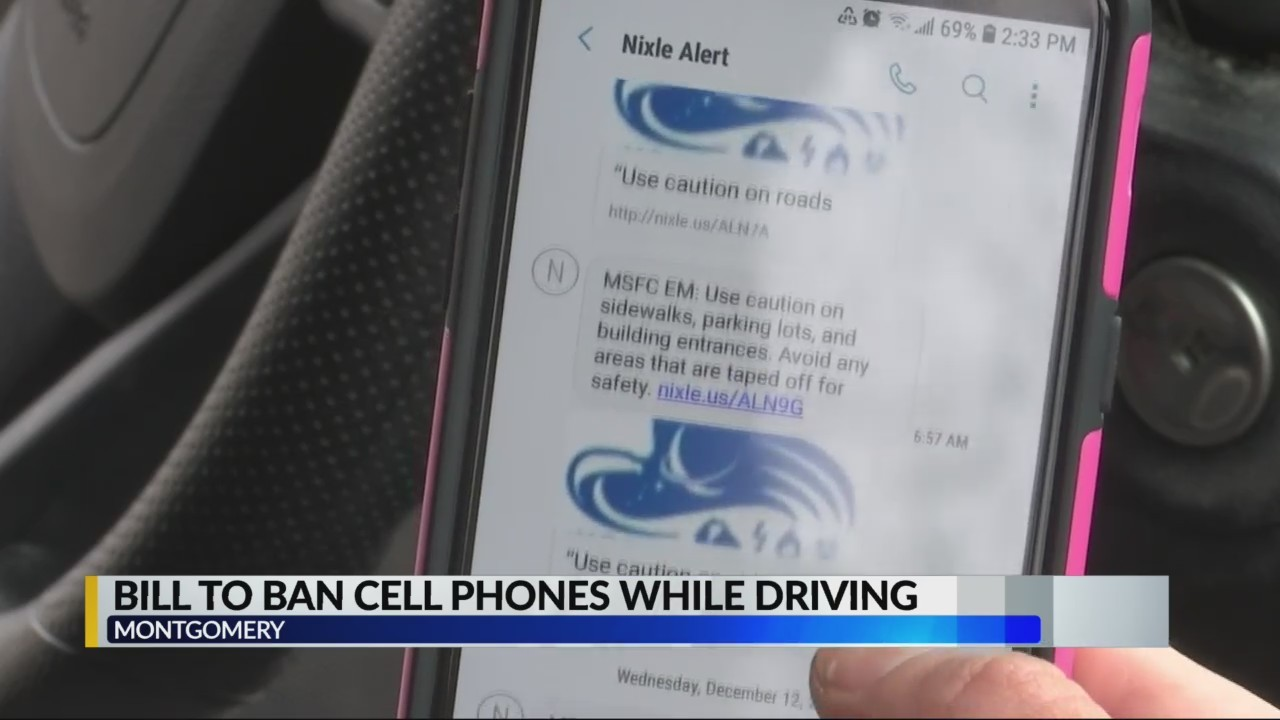 Bill to ban cell phones while driving