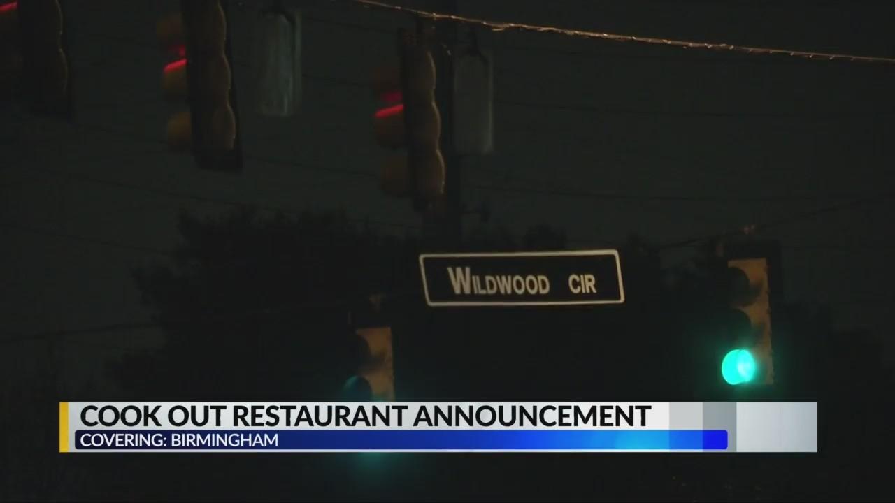 Cook Out restaurant announcement