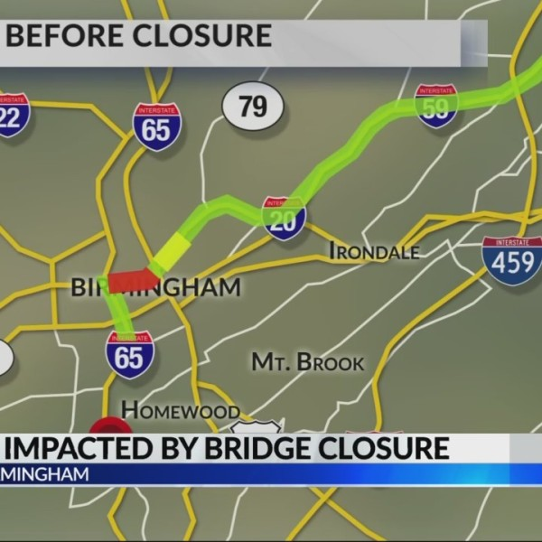 Drivers impacted by I-59/20 closure
