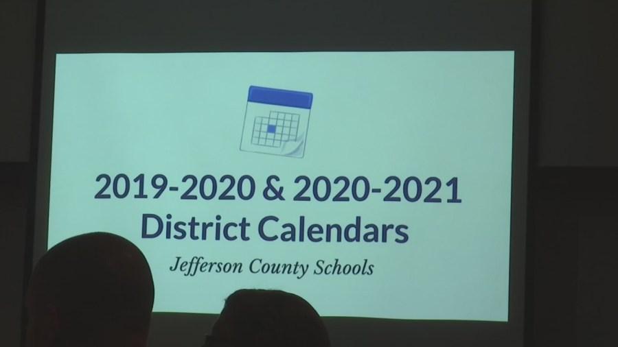 Jefferson County School Calendar 2021 Jefferson County School Board discusses changes to district calendar