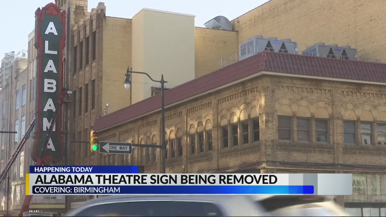Alabama sign comes down today
