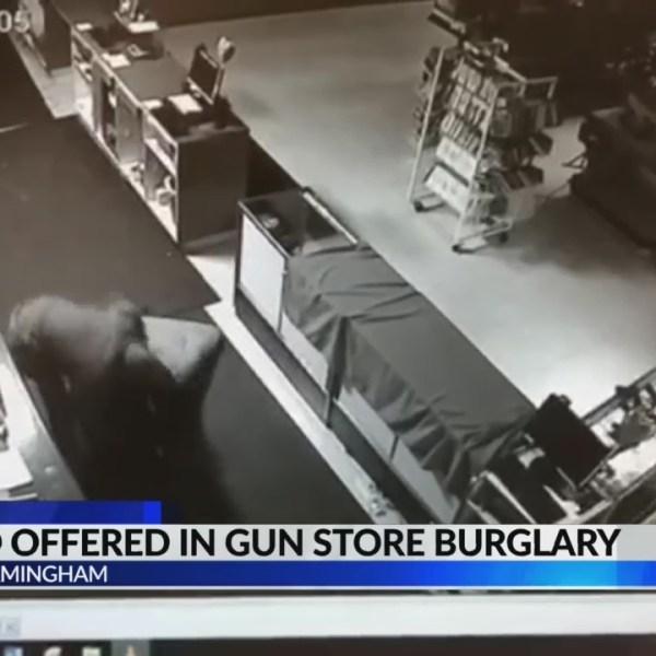 Reward offered in gun store burglary