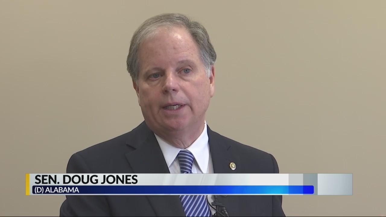 Sen. Doug Jones reacts to government shutdown