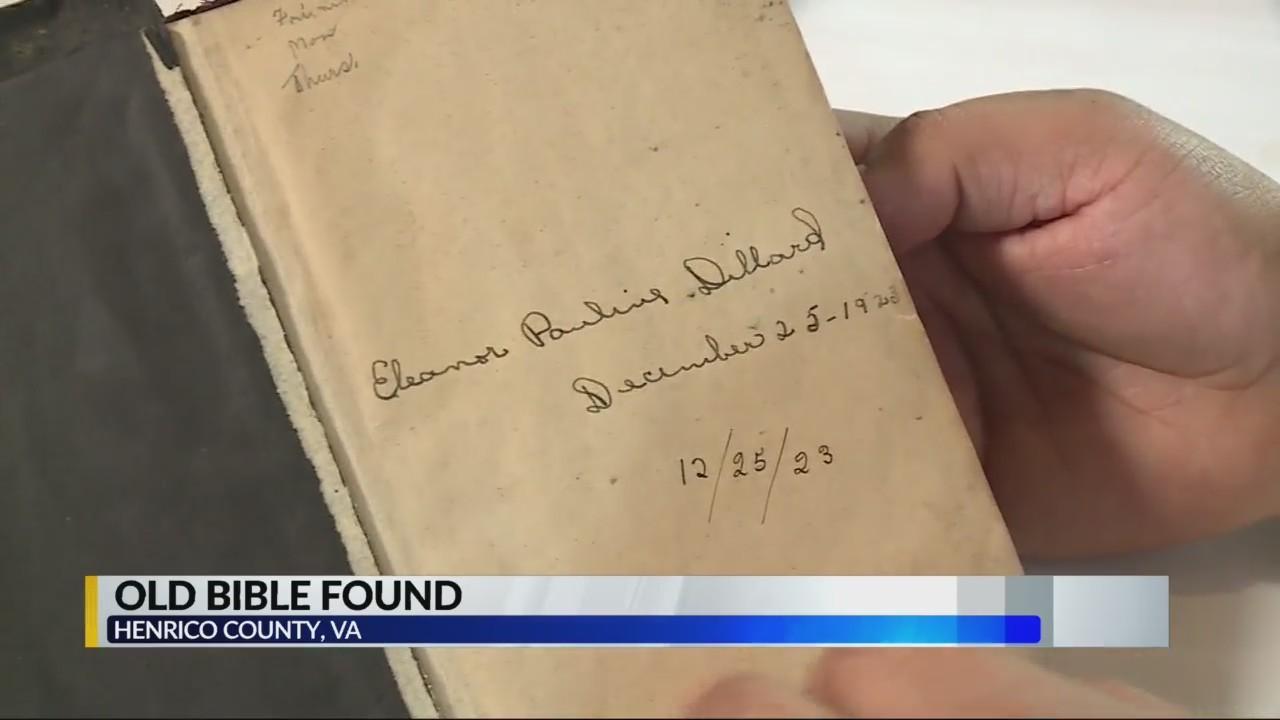 100 year old Bible found in restaurant
