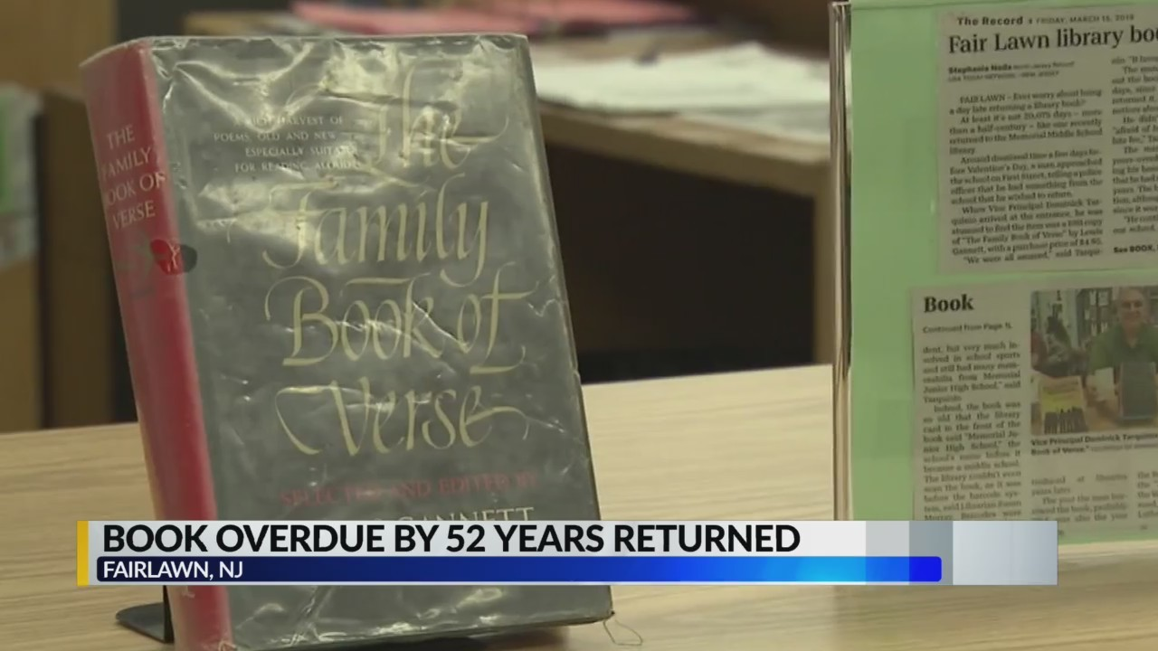 Man finally returns book 52 years later