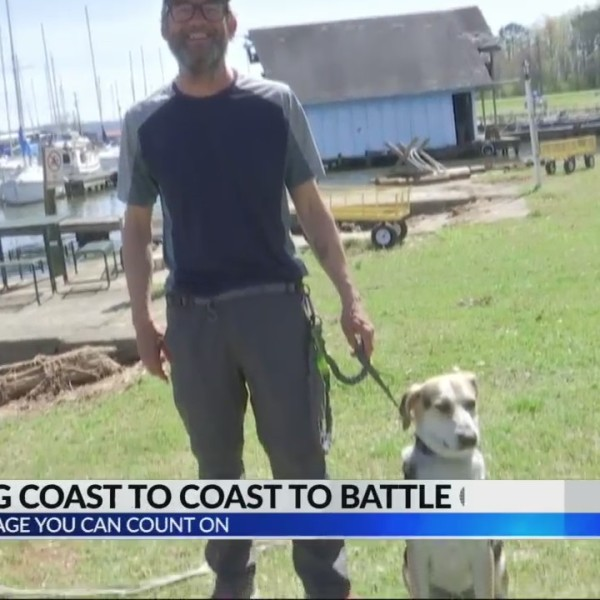 Man walks from coast to coast to raise money for pediatric cancer