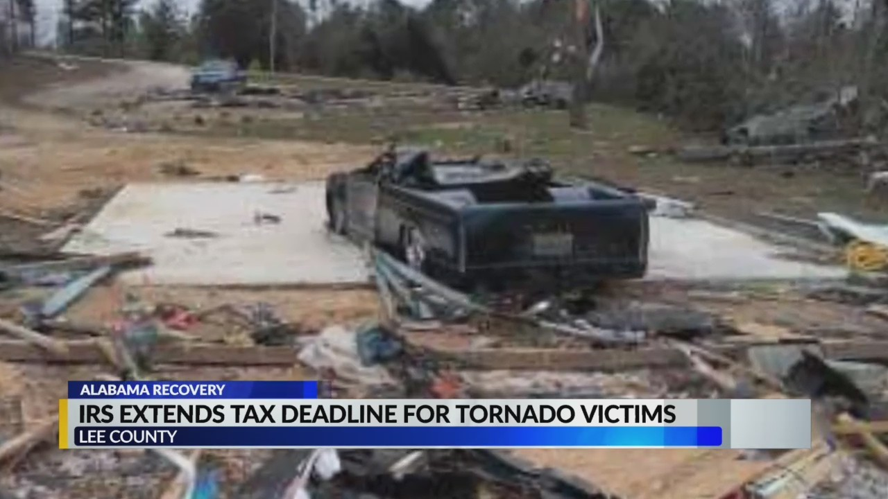 Lee County tornado victims receive extension on tax deadline