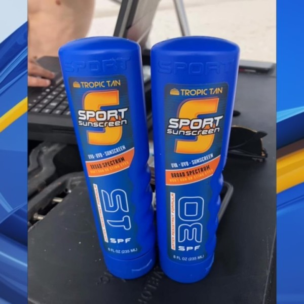 Warning on hiding alcohol in sunscreen bottles