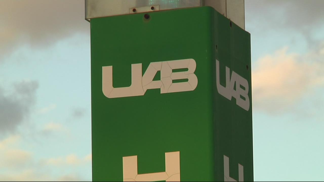 UAB campus sign