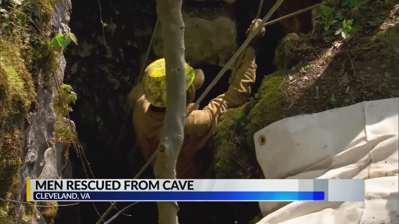 Men rescued from cave