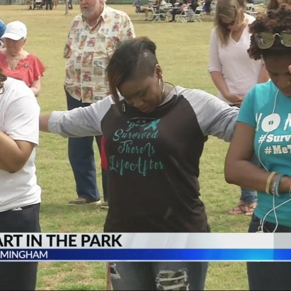 One heart in the park in Birmingham