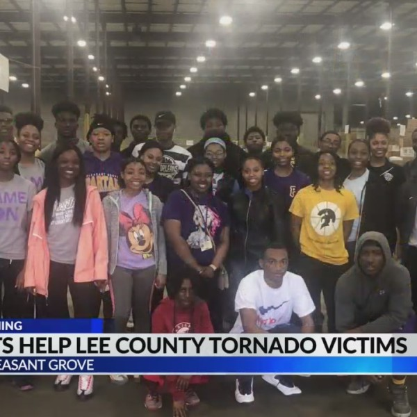 Pleasant Grove students help Lee County tornado victims