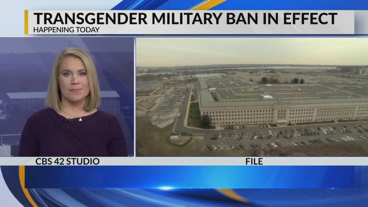 Transgender military ban in effect