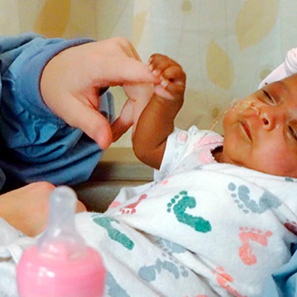 Tiniest Baby_Saybie fist bump