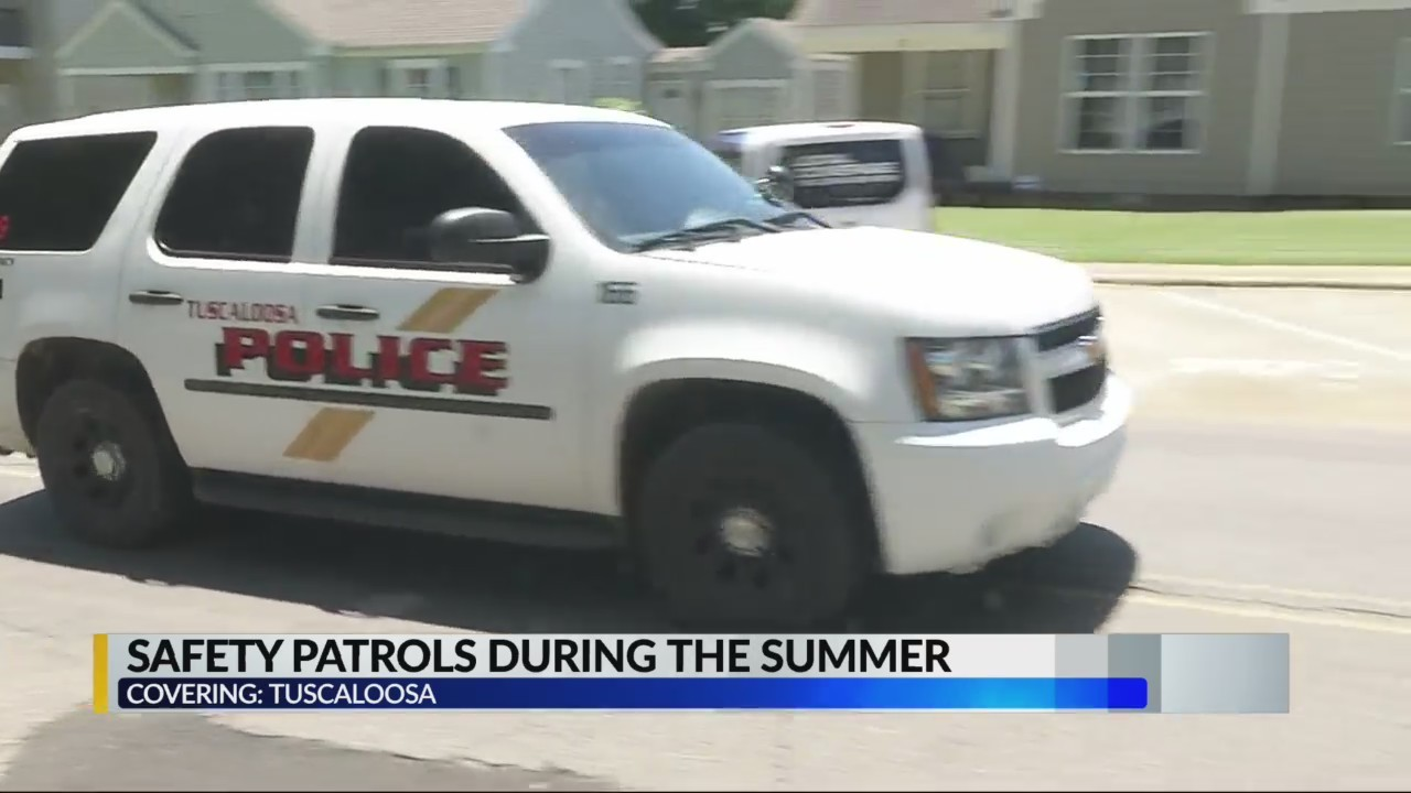 Tuscaloosa Police Safety patrols during the summer