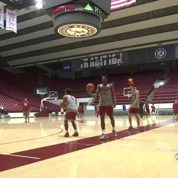 Alabama open basketball practice