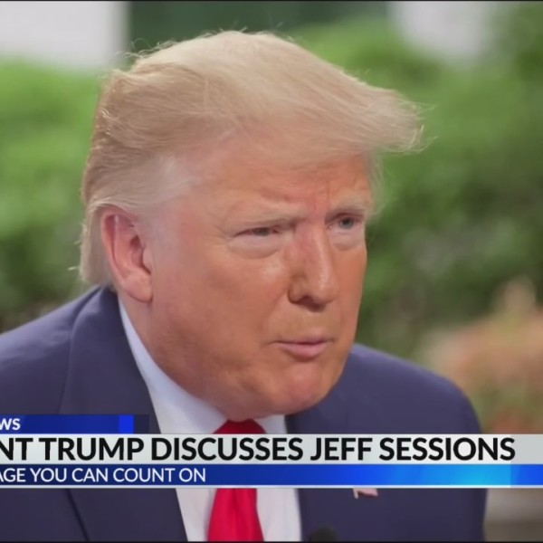 President Trump on Sessions