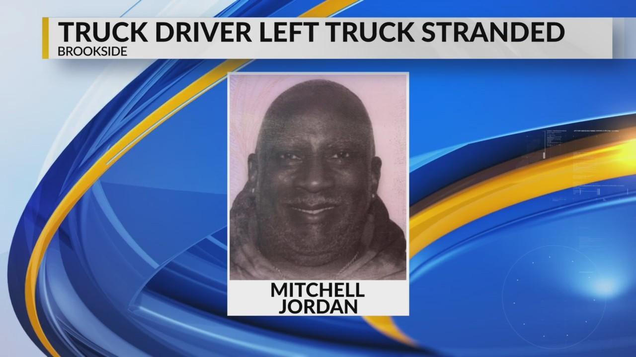Truck driver found, left truck behind