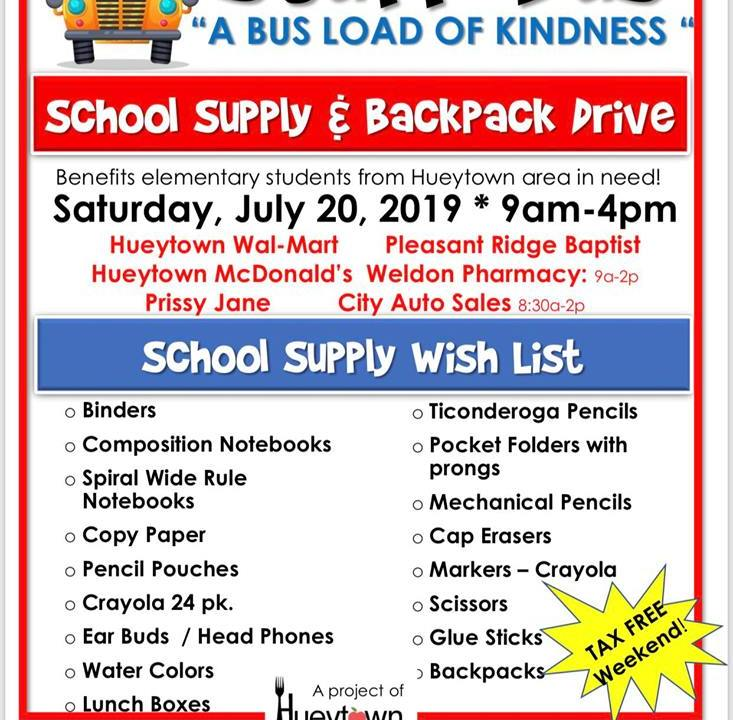City Auto Sales Hueytown >> Stuff The Bus Event Happening Saturday In Hueytown Wiat