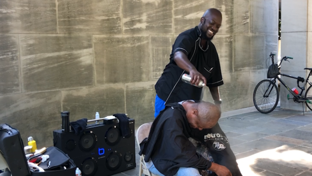 Barber pays it forward by giving free haircuts for homeless community