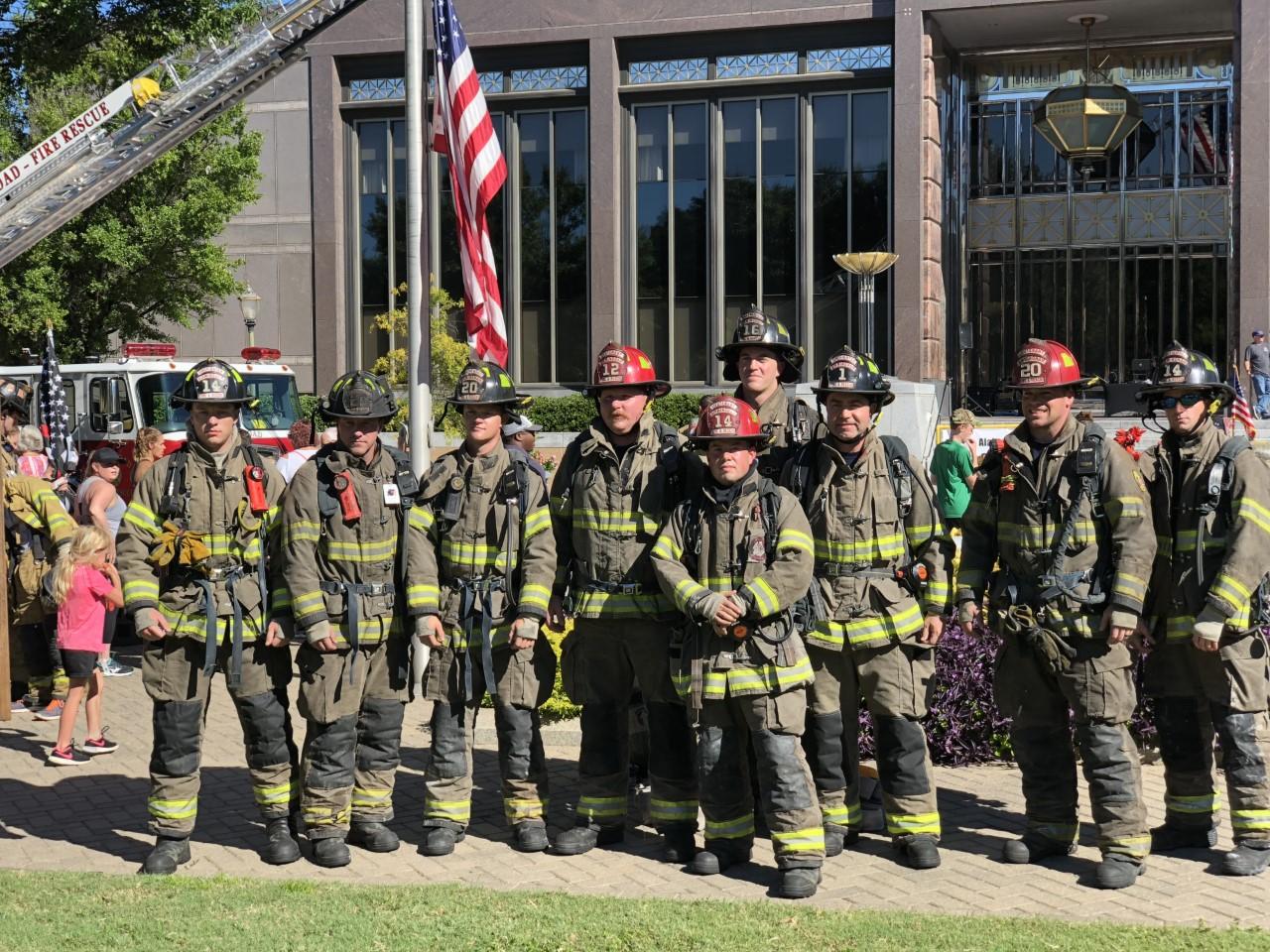 Birmingham Fire Dept at Memorial Stair Climb