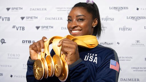 After record world medal haul, Biles a face of 2020 ...
