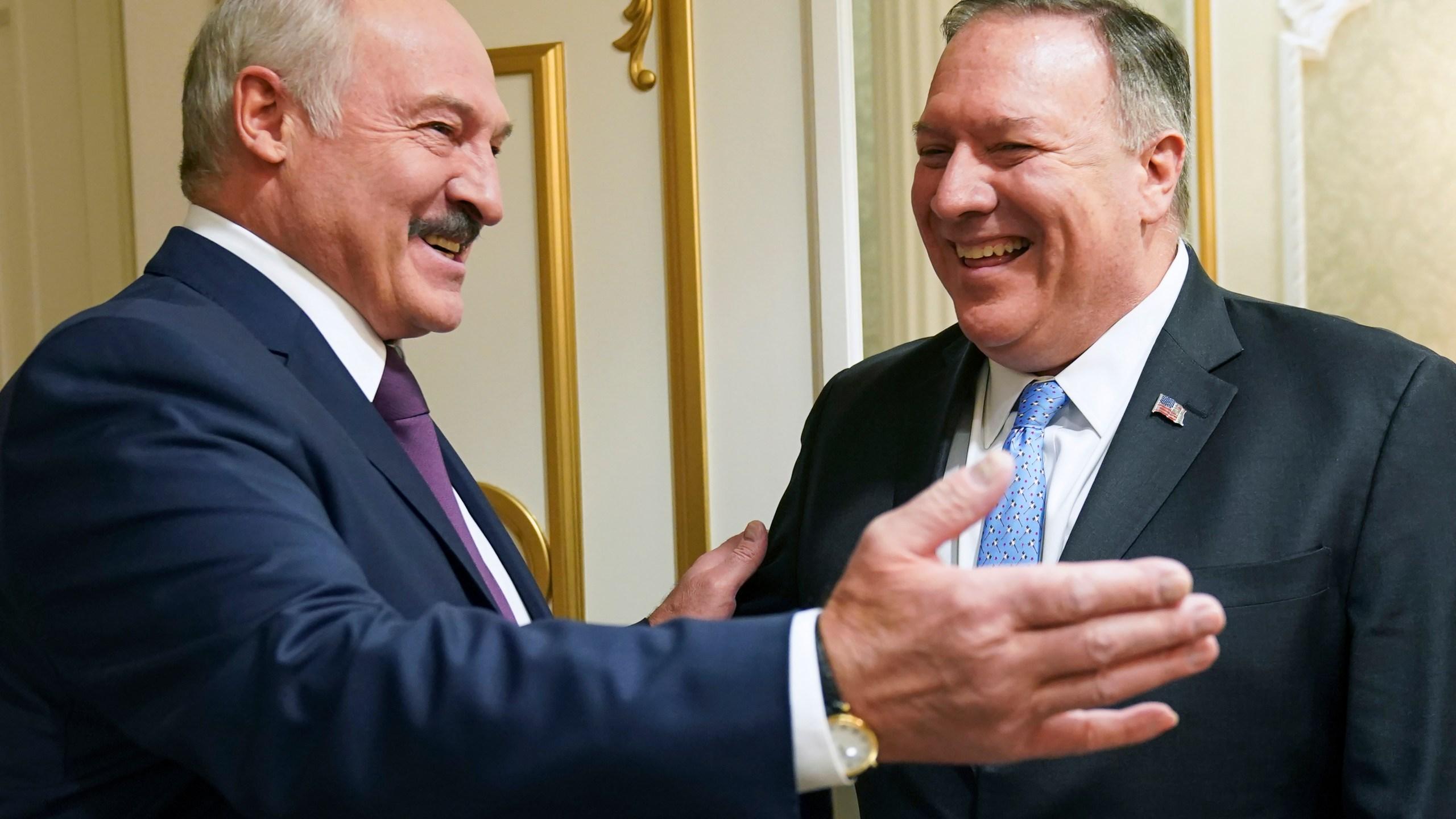 Alexander Lukashenko, Mike Pompeo