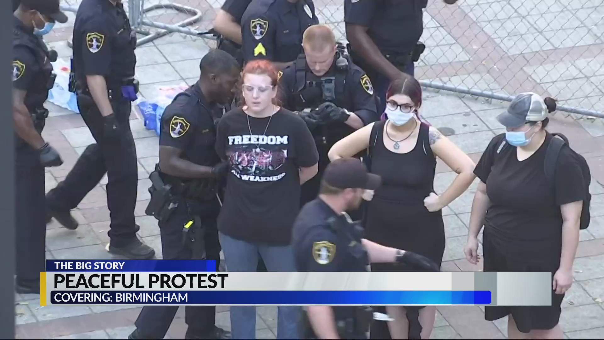 Christmas Linn Park 2020 Linn Park protest end with several arrests   CBS 42