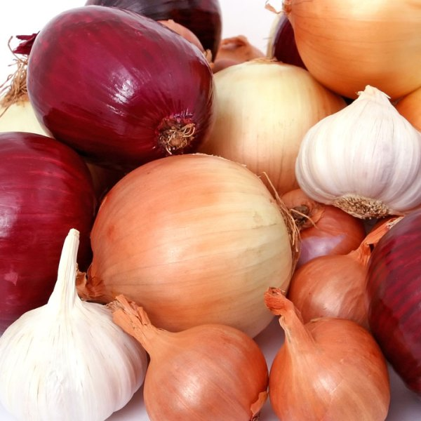 Onions and garlic — This duo is packed with quercetin, which helps fight allergies by acting like an antihistamine. It also acts like vitamin C to quell inflammation in your system.