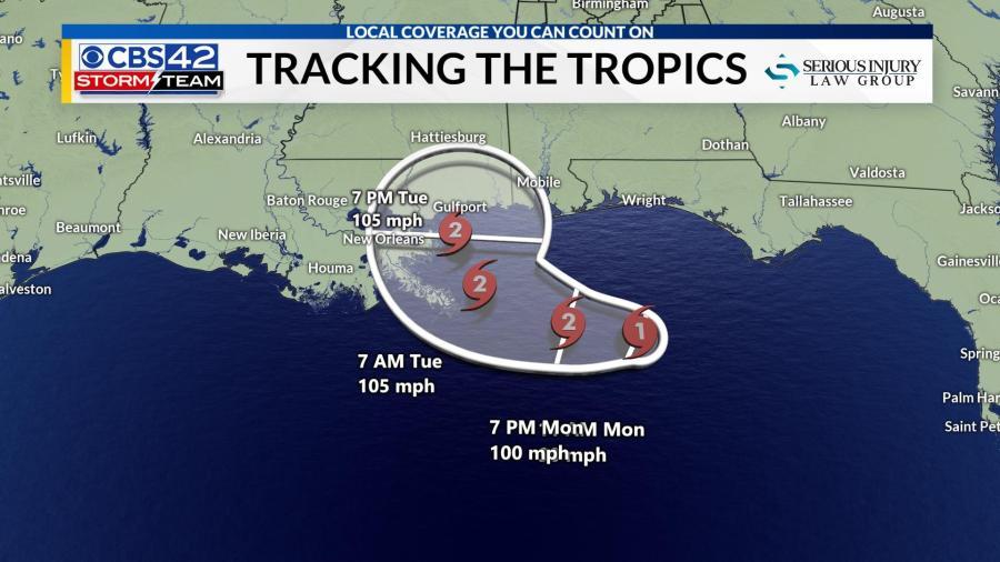 Tracking the Tropics: Sally now a Category 1 hurricane ...Hurricane Sally Track