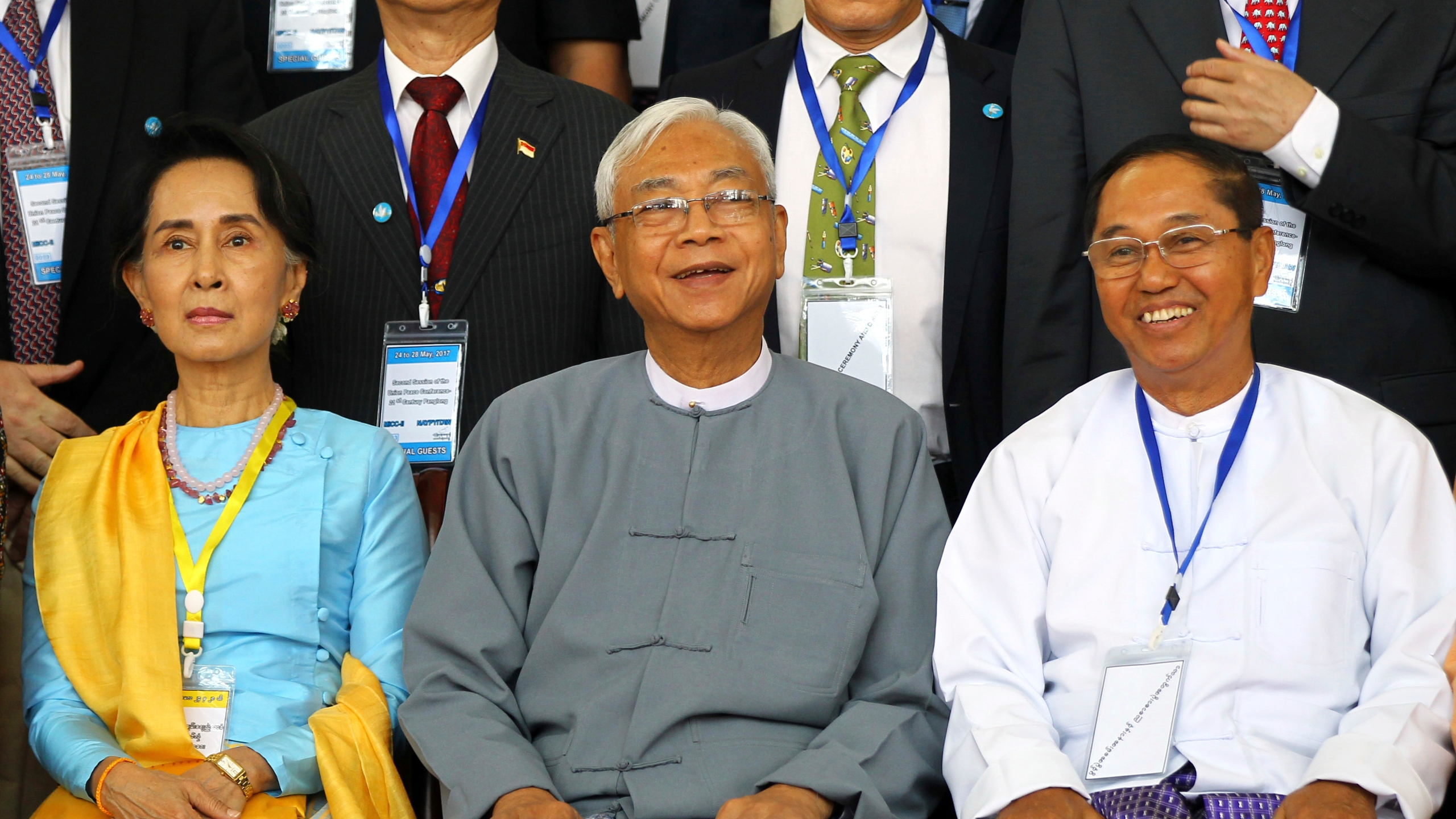 Aung San Suu Kyi, Htin Kyaw, Myint Swe