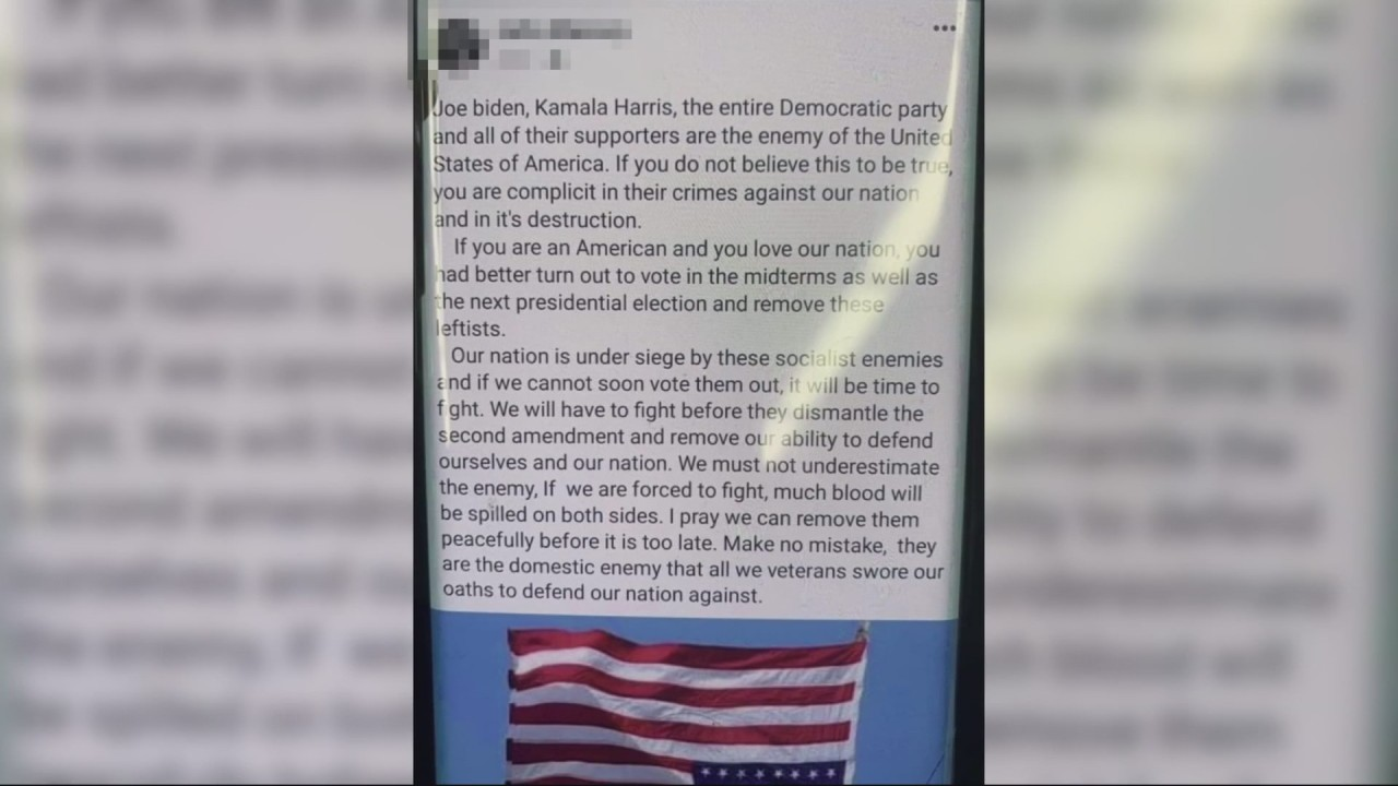 Birmingham officer calls president, vice-president, Democratic Party 'enemies of the state'