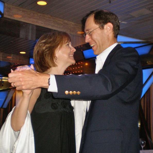 Renee and Harvey Harmon dancing together